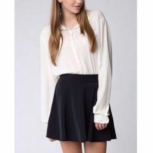 Brandy Melville Black Circle Skirt with Zipper